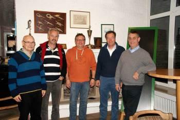 Vorstand der WG Dümmer von links: Hans-Wilhelm Arendholz, Jörg Menke, Jens Dannhus, , Hanno Baumann, Jens Schröder