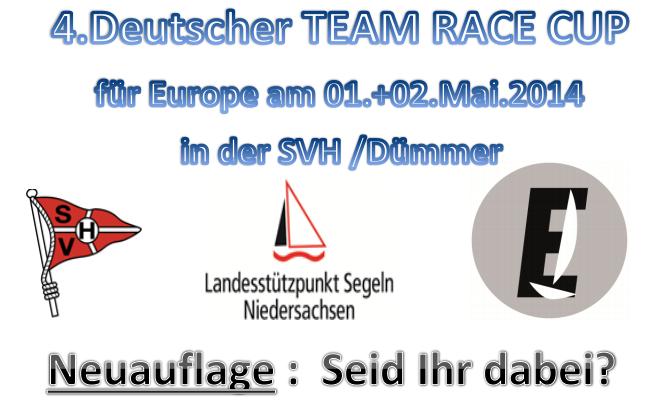Die Ausschreibung zum Team Race Cup 2014 der Europes ist Online