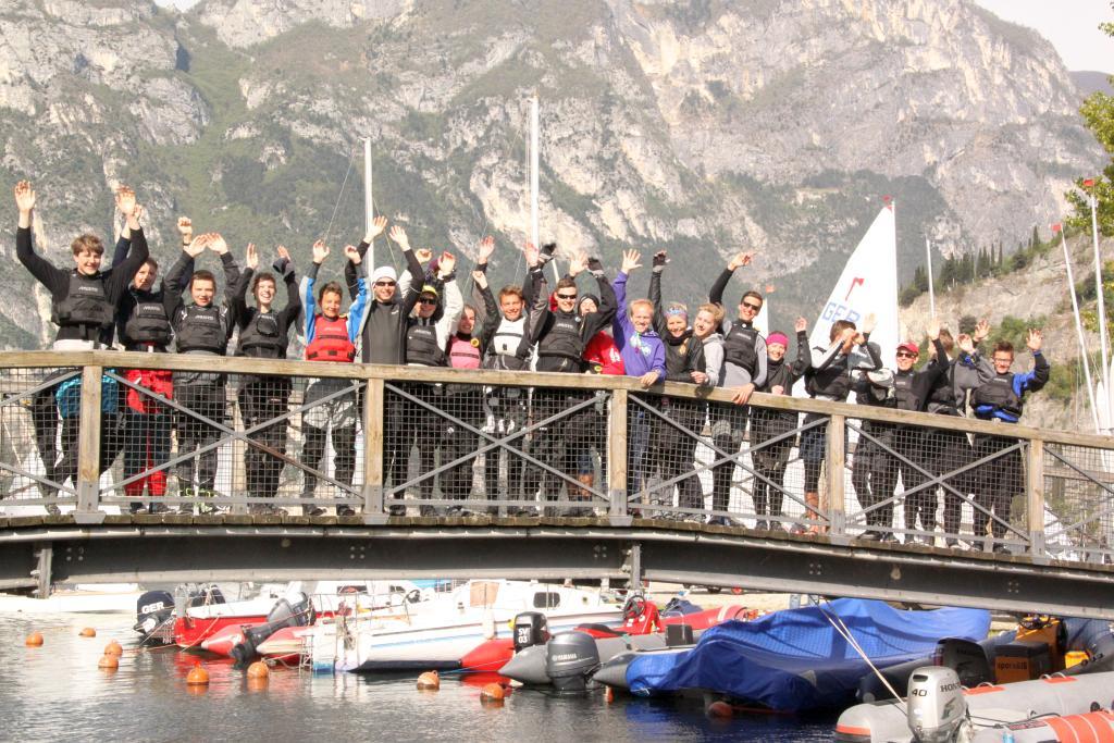 Ostertraining der Europes-Segler aus Niedersachsen und NRW am Garda See –  Prima Stimmung bei tollem Wind und Wetter