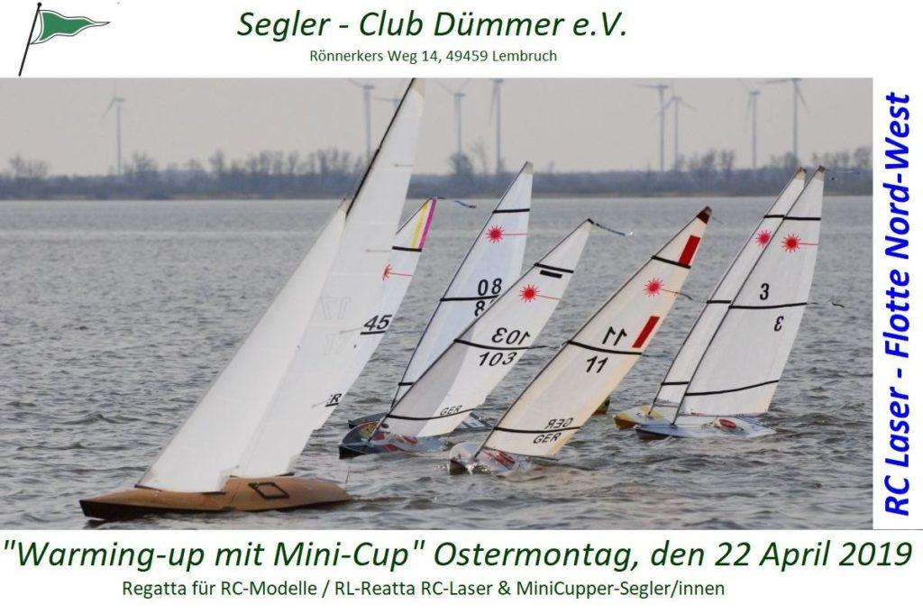 Warming-up mit MiniCup am 22.April 2019 – für RC Laser und MiniCupper
